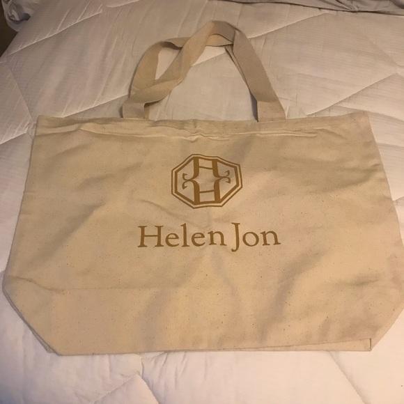 Handbags - NWOT Large Canvas Tote by Helen Jon
